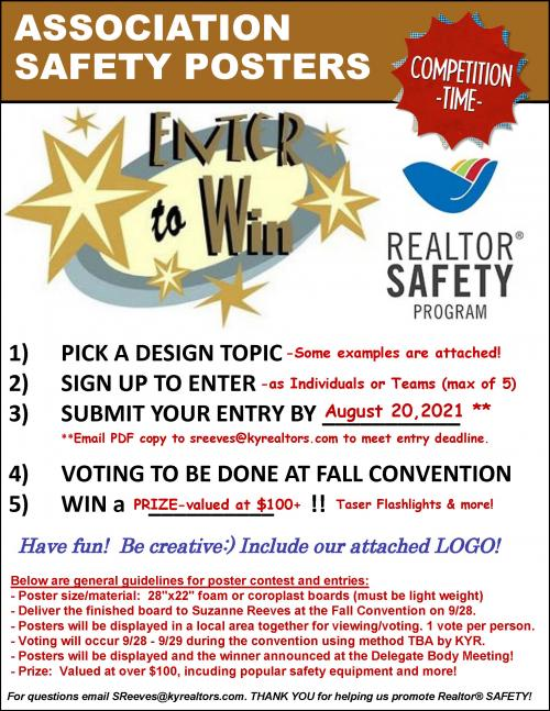 Safety Poster Design Contest!