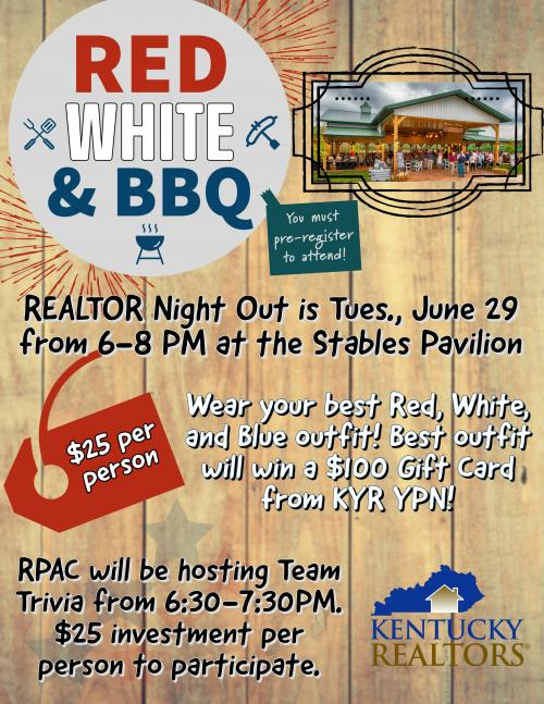 Red, White & BBQ Flier